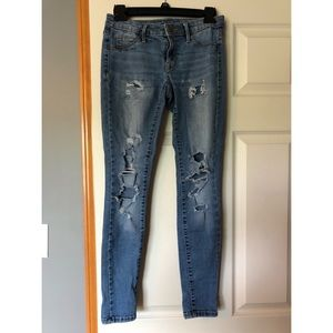 Distressed Blue Jeggings